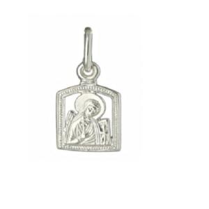 образок серебро ангел хранитель