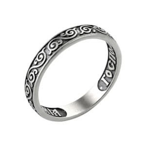кольцо православное из серебра