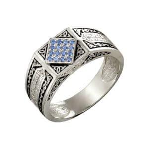 кольцо православное с фианитами