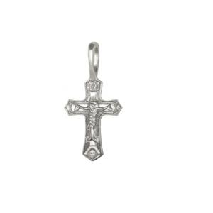 крестик из белого серебра