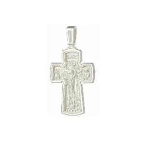 крест нательный из белого серебра