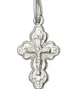 крестик православный серебряный