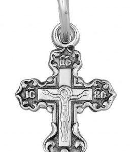 нательный крестик из серебра