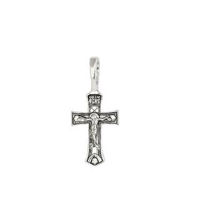 крестик серебро с чернением
