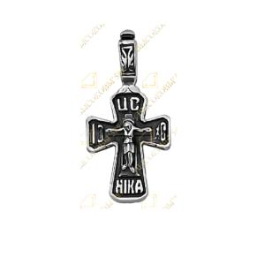 крест серебряный чернёный