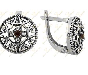 серебряные православные серьги