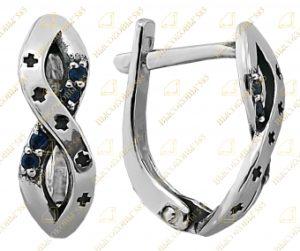 серьги серебряные с крестиками