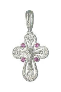 крест с цветными камнями