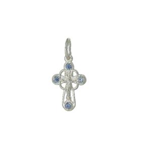 крестик серебро с цветными камнями