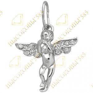 подвеска ангел серебро
