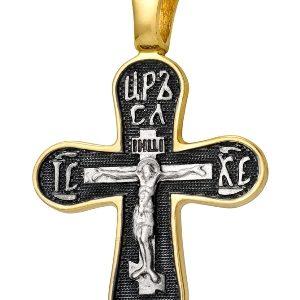 крест серебряный с позолотой
