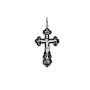 крестик серебряный с чернением