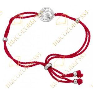 браслет красная нить с серебром