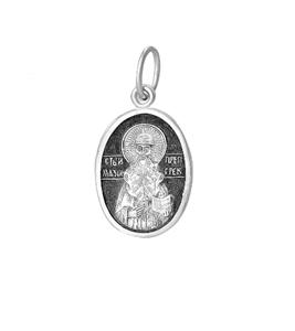серебряный образок Максим Грек