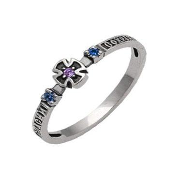 кольцо серебряное с камнем