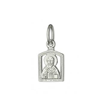 образок серебро Святитель Николай
