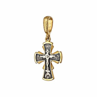 крест серебро позолота