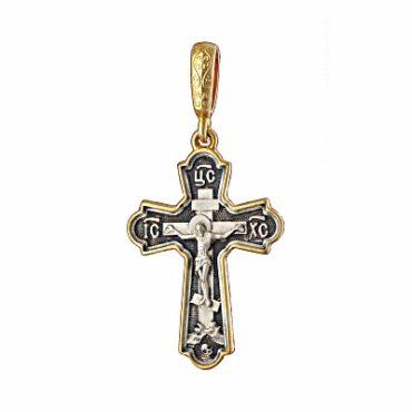 серебряный крест с позолотой