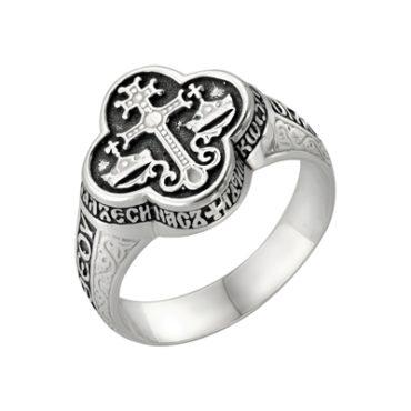 мужское кольцо с молитвой