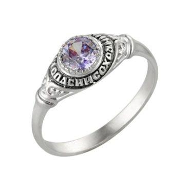 кольцо православное с камнем