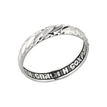 кольцо с алмазной огранкой
