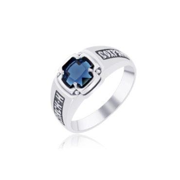 кольцо серебряное православное
