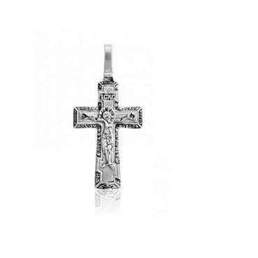 серебряный крест с чернением