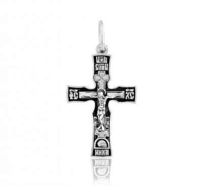 крест серебряный с чернением