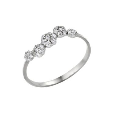 кольцо с родиевым покрытием