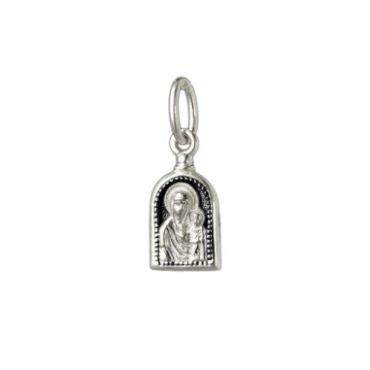 серебряный образок Казанская