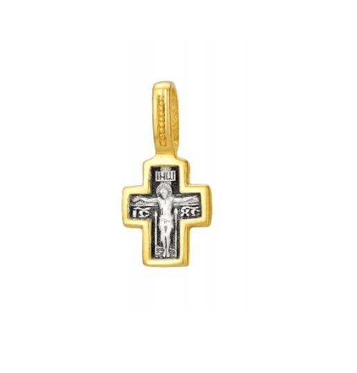 крестик православный с позолотой