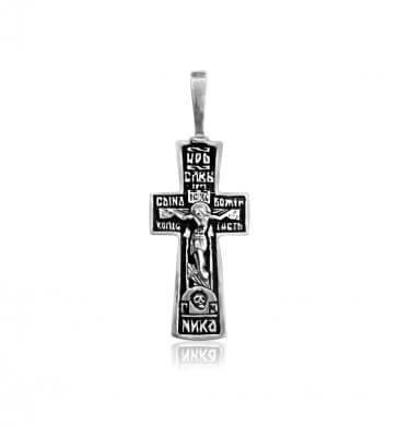 серебряный крестик с чернением