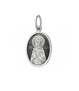 серебряный образок Илья
