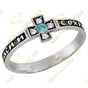православное кольцо с фианитом