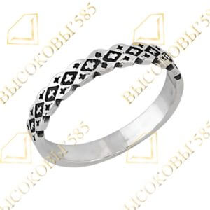 серебряное кольцо с крестиками