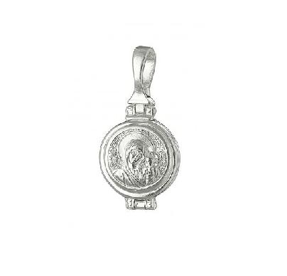 Серебряная ладанка Казанская Богородица