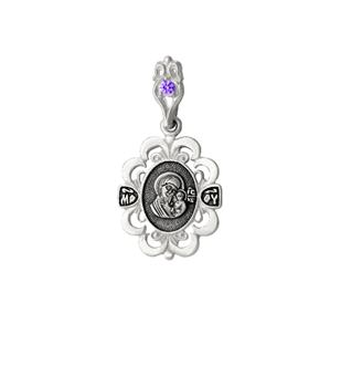 образок Казанская серебро