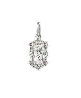 образок Владимирская серебро