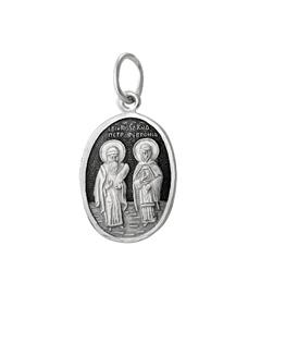 Образок серебряный Пётр и Феврония