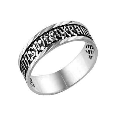 кольцо с огранкой