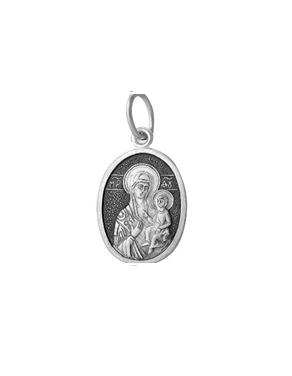 Серебряный образок Иверская Богородица