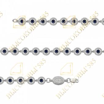 серебряный браслет с цветными камнями