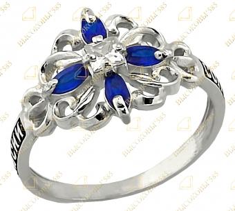 православное кольцо с камнями