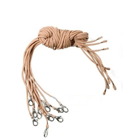бежевый шнурок для крестика