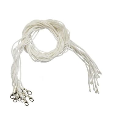 шнурок для крестика белый