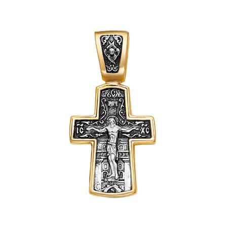 крест позолота