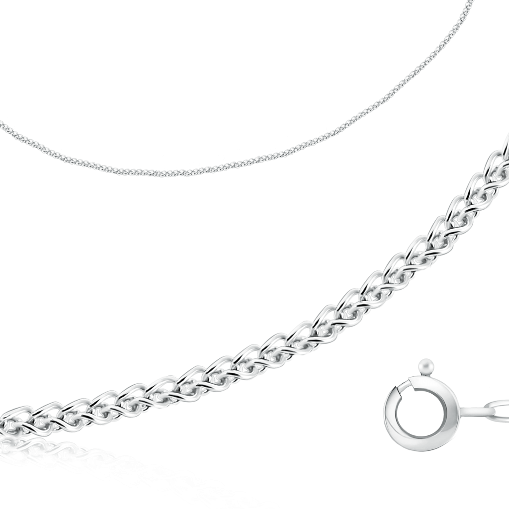 серебряная цепь колос