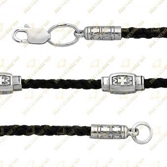 текстильный браслет с молитвой