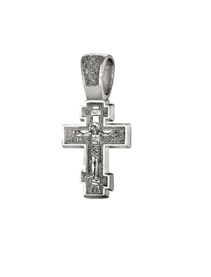 Мужской крест серебро