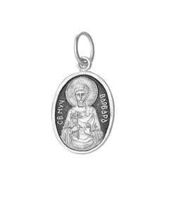серебряный образок Варвара
